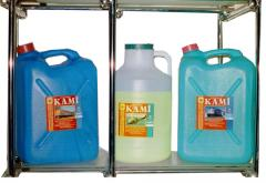 Means for removal of a scum from surfaces (metal,