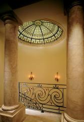 Ceilings are stained glass