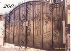 Ворота кованые №200