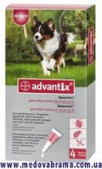 BAYER. Advantix (Адвантикс) вес 10-25 кг