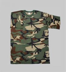 T-shirts are camouflage