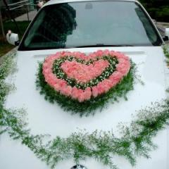 Оформим свадебную машину по вашему желанию. Оформление любой сложности из предпочитаемых вами цветов.
