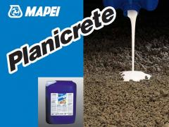 Additives in PLANICRETE cement mortars