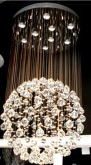 Люстры с хрустальными подвесками в Баку KOD 3170-9