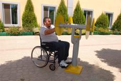 Exercise machines for disabled people