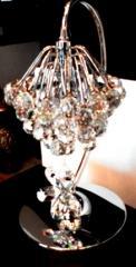 Лампы настольные с хрустальными подвесками