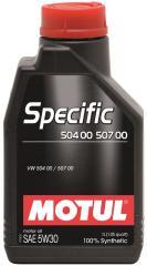 Моторное масло MOTUL SPECIFIC 504.00-507.00 5W-30