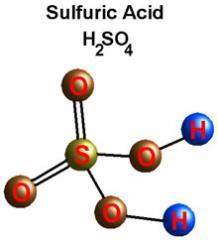 Sulphuric acid (H2SO4)