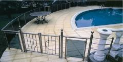Protections from a stainless steel for pools