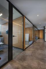Модульные стеклянные офисные перегородки