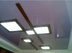 Stretch ceilings mirror