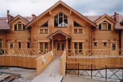 Environmentally friendly wooden houses