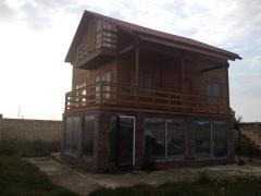 Дома из оцилиндрованного бревна от 450 AZN