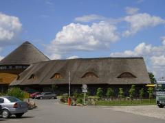 Деревянные дома с тростниковой крышей