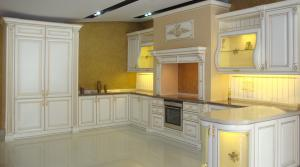 Classical furniture for kitchen of Monte Bianco