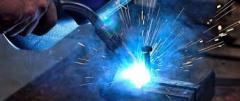 Mix gas welding: hydrogen - argon