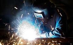 Mix gas welding: carbon dioxide - oxygen - argon