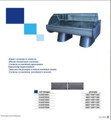 Холодильная витрина 01А0070006, размер 3000*1000*1350