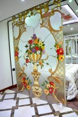 "Stained-glass window ""An antique vase"