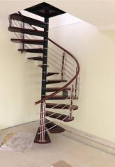 Ladders are mansard screw. Spiral staircases
