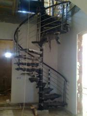 Ladders are mansard screw