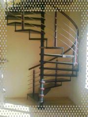 Ladders are mansard screw. Ladders wooden