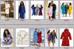 Халаты банные PJ001-PJ010
