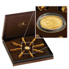 Шоколад со съедобным 24 карата золотом