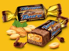 Конфеты с арахисом и нугой, покрытые