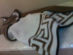 Одеяло коричневый верблюд Мерино Грека