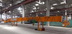 Bridge electric single-beam cranes of production
