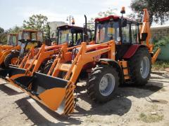 Construction road engineering - loader-digger
