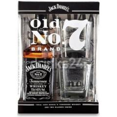 Jack Daniels 0.7L in box with 2 glasses