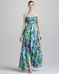 Яркое Шелковое Платье с Принтом