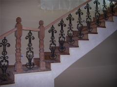 Кованые перила, поручни для лестниц