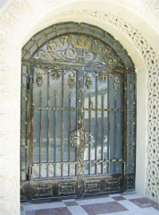 Gate and doors shod openwork