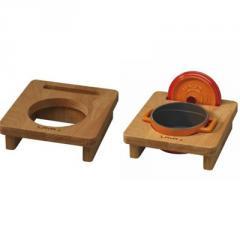 Wooden Stand for 3ea. mini dia.10cm.casserole (LV AS 102)
