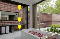 Настенная плитка для ванной в восточном стиле от
