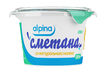 Sour cream from Alpina genuine milk