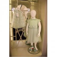 Платье детское нежно-зеленого цвета VIP