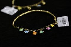Bracelet gold children's with multi-colored