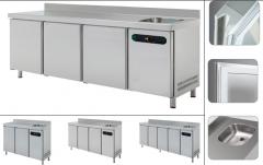 Холодильный стол с мойкой   ETP-6-250-40E