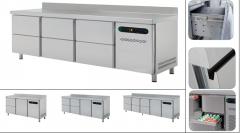 Столы холодильные выдвижными ящиками