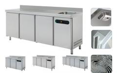 Холодильный стол с мойкой (GASTRONOM)