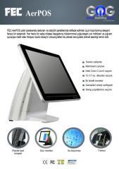 FEC AerPOS 3435 touch terminal + MSR + HDD