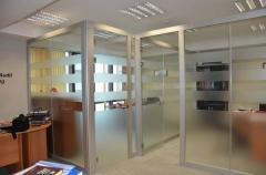 Перегородки офисные - наша компания производит и