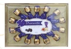 Коробка шоколадных конфет, покрытых темной глазурью Diamante ежевика