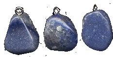 Подвески из синего кварца - кварц с содалитом