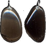 Подвеска из дымчатого кварца (раухкварца)