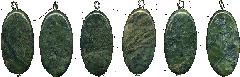 Suspension brackets from dark blue lazurite of an